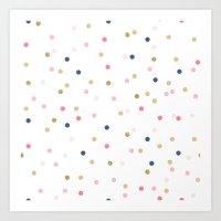 Round Confetti Pattern Art Print