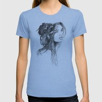 Moonlit Womens Fitted Tee Athletic Blue SMALL