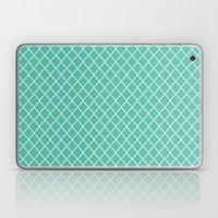 Quatrefoil - Teal Laptop & iPad Skin
