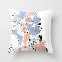 San Francisco Crime Map Throw Pillow