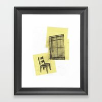 Invisible Man Looking Ou… Framed Art Print