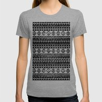 TRIBAL MONOCHROME Womens Fitted Tee Tri-Grey SMALL