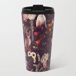 Travel Mug - Cat and Floral Pattern - Burcu Korkmazyurek