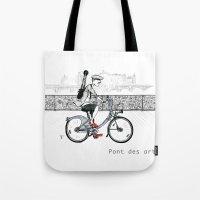 A Few Parisians: Pont des Arts Tote Bag