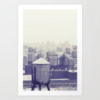 Foggy Memories Of Nyc... Art Print