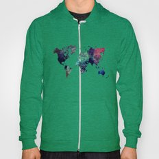 Map of the World After Ice Age Hoody
