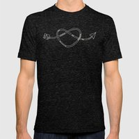 The Heart & The Arrow Mens Fitted Tee Tri-Black SMALL
