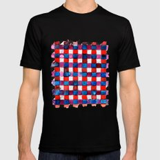 Let's Plaid Black SMALL Mens Fitted Tee