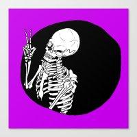 Skeleton Wink Canvas Print