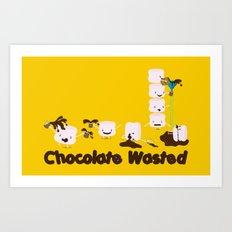 Chocolate Wasted (yellow) Art Print