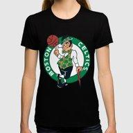 NBA - Celtics Womens Fitted Tee Black MEDIUM