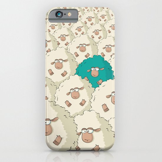 Sheep Pattern | Turquoise iPhone & iPod Case