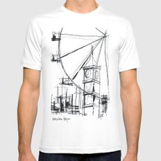 London Eye Mens Fitted Tee SMALL White