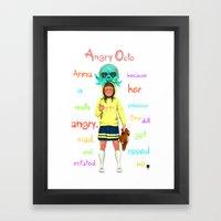 Angryocto - Anna's Precious Framed Art Print