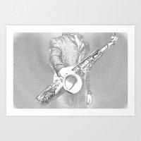 saxophone player... Art Print