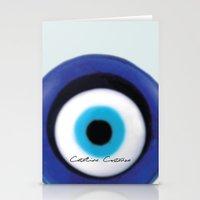 Stationery Card featuring Evil Eye by SalbyN
