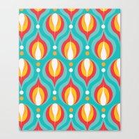 Colorful Dewdrops Canvas Print