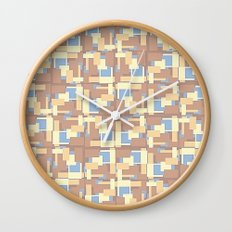 Blue Earth Patch Pattern Wall Clock