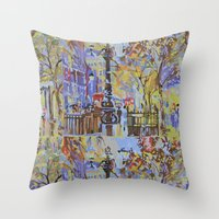 paint by numbers pattern Throw Pillow