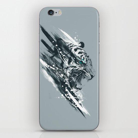 white tigra iPhone & iPod Skin
