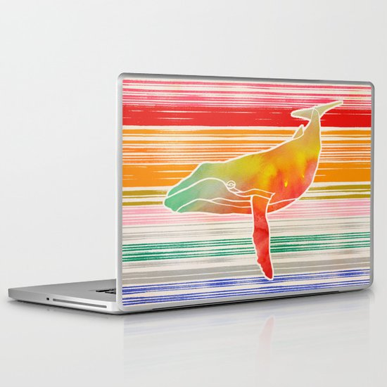 Whale  by Jacqueline Maldonado & Garima Dhawan Laptop & iPad Skin