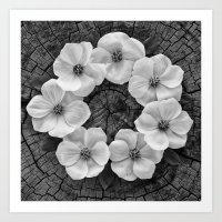 Flower circle Art Print