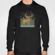 Golden Christmas Deer  Hoody