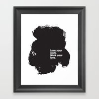 Paint (Black) Framed Art Print