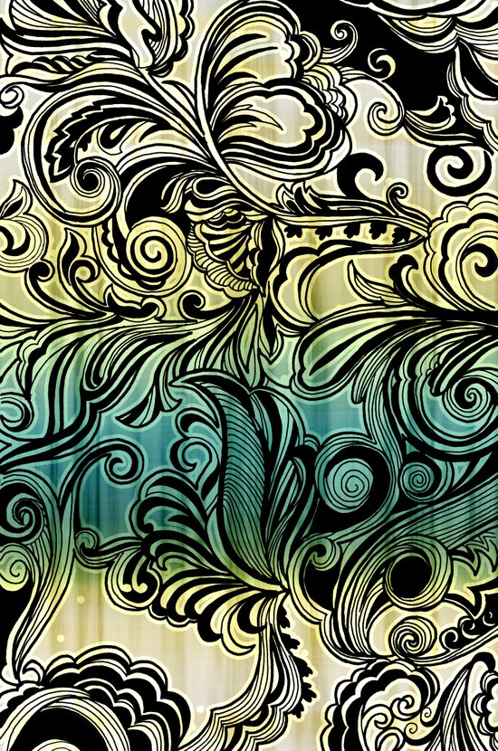 Swirl and Curl Art Print