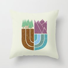 Mountain Crest Throw Pillow