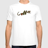Coffee Branch Mens Fitted Tee White SMALL