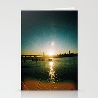 Williamsburg Bridge At S… Stationery Cards
