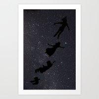 Peter Pan - Fly to Neverland  Art Print