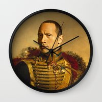 Dwayne (The Rock) Johnson - replaceface Wall Clock