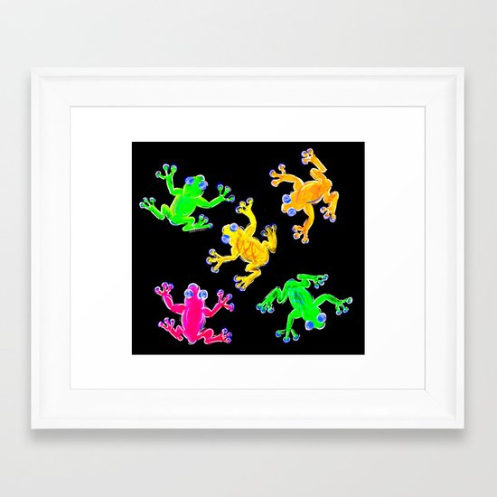 Rainforest Multicolour Framed Art Print