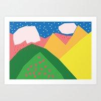 Them Rolling Hills Art Print