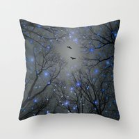 Throw Pillow featuring The Sight of the Stars Makes Me Dream (Geometric Stars Remix) by soaring anchor designs