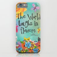 iPhone & iPod Case featuring The World Laughs In Flowers by Jennifer Lambein