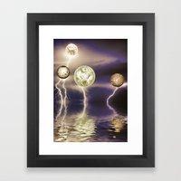 Galactic storm Framed Art Print