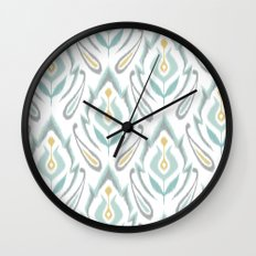 Soft Ikat Wall Clock