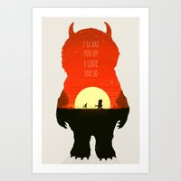 Wild Things Art Print