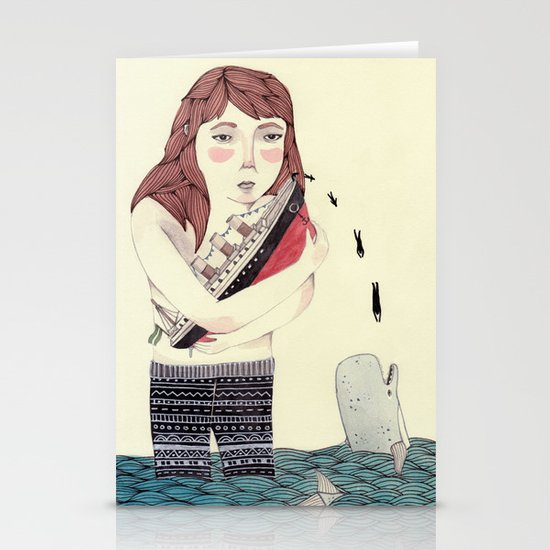 Overboard Stationery Card