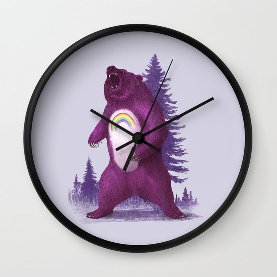Scare Bear Wall Clock