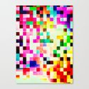 GROWN UP PIXELS Canvas Print