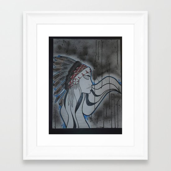 Indian. Framed Art Print