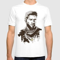 Uncharted 3 SMALL White Mens Fitted Tee