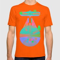 Falcon Mens Fitted Tee Orange SMALL