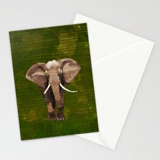 ELEPHANT: THE GREY GRAZER Stationery Cards