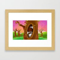 Bunny Tree Framed Art Print
