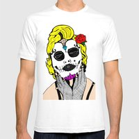 Dia De Los Marilyn En CO… Mens Fitted Tee White SMALL